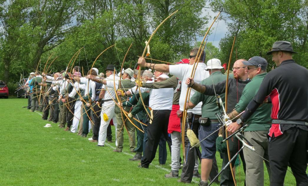 The shooting line was crowded with gentlemen archers from across the country.